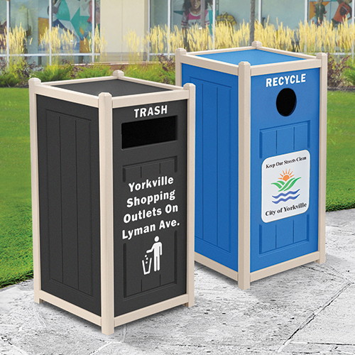 recycling receptacles labels